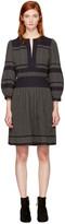 Etoile Isabel Marant Grey and Black Ramsey Dress