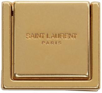 Saint Laurent Gold Logo Phone Ring