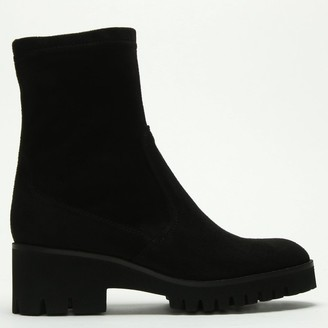Daniel Larita Black Stretch Chunky Sole Ankle Boots