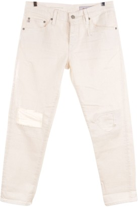 AG Jeans White Cotton Jeans for Women