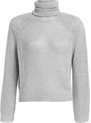 RtA Mick Metallic Turtleneck Sweater