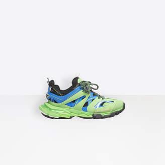 Balenciaga Track in blue and green mesh and nylon