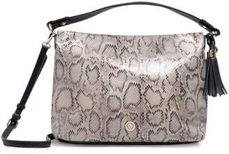 Anne Klein Snakeskin PVC Hobo Bag