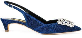 Rupert Sanderson crystal-embellished pumps