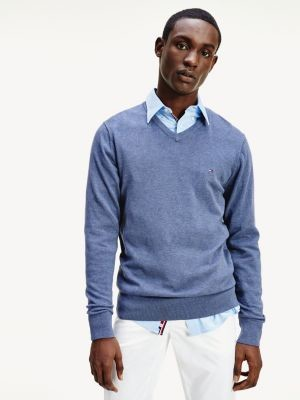 Tommy Hilfiger Organic Cotton Silk V-Neck Jumper