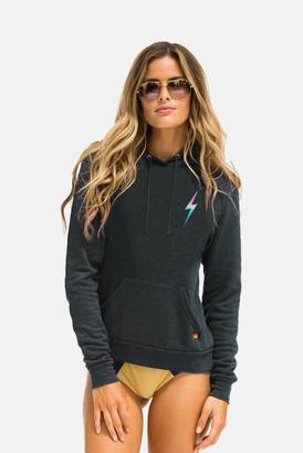 Aviator Nation Bolt Pullover Hoodie Rainbow Pink