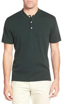 AG Jeans Men's Green Label 'Forged' Pima Cotton Polo