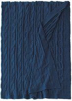 Eastern Accents Avalon Cable-Knit Cotton Throw - Indigo - EASTERN ACCENTS