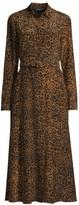 Lafayette 148 New York Augustina Leopard-Print Silk Dress