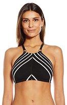 Robin Piccone Women's Daniella High Neck Halter Bikini Top