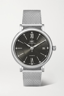 IWC SCHAFFHAUSEN - Portofino Automatic 37 Stainless Steel And Diamond Watch - Silver