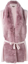 N.Peal cashmere detail cardi-coat - women - Rabbit Fur/Cashmere - S