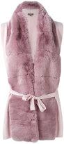 N.Peal fur detail cardi-coat - women - Rabbit Fur/Cashmere - S