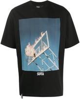 burning net T-shirt