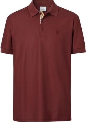 Burberry Monogram-Embroidered Polo Shirt