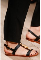 Valentino Scarab-embellished leather sandals