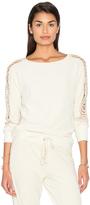 Pam & Gela Lace Sleeve Sweatshirt