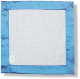 Swaddle Designs Baby Lovie - Polka Dot Flannel with Bright Blue Satin