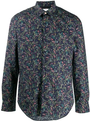 Paul Smith Floral-Print Dress Shirt