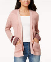 Freshman Juniors' Puffed-Sleeve Open-Front Cardigan