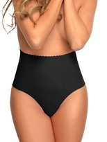 NINGMI Women's Shapewear Thong Brief Seamless Hi-Waist Tummy Control Panty