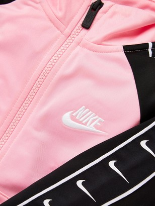 Nike Sportswear Younger Girls Swoosh Tricot Taped Tracksuit - Pink