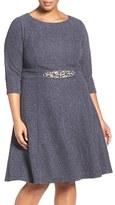 Eliza J Plus Size Women's Embellished Fit & Flare Dress