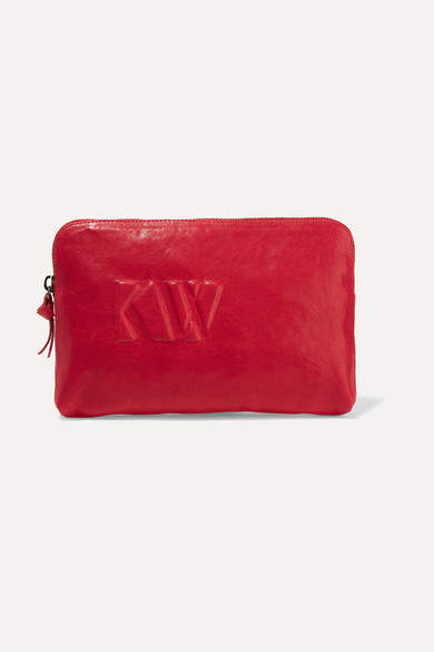 Kjaer Weis Kw Cadeau Leather Cosmestics Case - Red