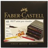Faber-Castell PITT Artist Brush Pens 48/Pkg-Assorted Colors