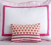 Pottery Barn Kids Heart Stripes Pillow