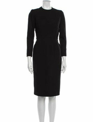 Burberry Longsleeve Knee-Length Dress Black