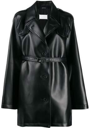 Maison Margiela belted faux leather jacket