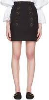 Dolce & Gabbana Navy Buttoned Miniskirt