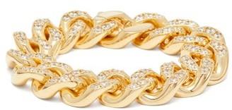 Bottega Veneta Pave-crystal Chain Bracelet - Gold