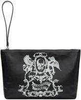 Alexander McQueen Black Medium coat Of Arms Pouch