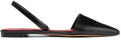 Diane von Furstenberg Koko Leather Slingback Flats - Black