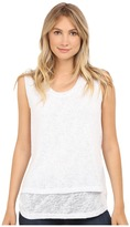 Nally & Millie - High-Low Tank Top with Side Slits Women's Sleeveless