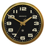 Newgate Clocks - Brixton Wall Clock - Radial Brass - Black Dial