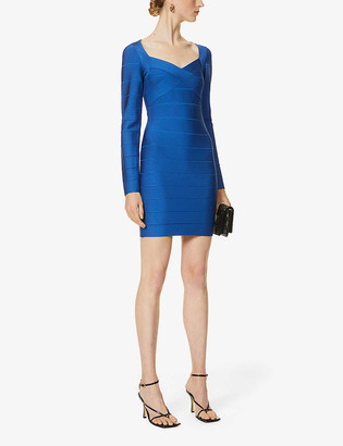 Herve Leger Icon bandage stretch-knit mini dress