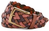 Tommy Bahama Tonal Multicolor Leather Braided Belt