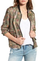 Blank NYC Women's Blanknyc Floral Print Tencel Bomber Jacket