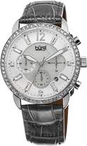 Burgi Women's BUR089GY Analog Display Quartz Grey Watch
