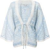 Miss Selfridge Blue Paisley Kimono