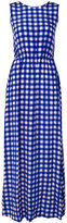 Diane von Furstenberg long checkered dress - women - Silk - M