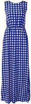 Diane von Furstenberg long checkered dress