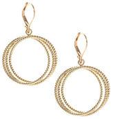 Anne Klein Orbit Textured Hoop Earrings