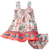 Iris & Ivy Floral & Butterfly Smocked Dress & Bloomer Set (Baby Girls)