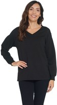 Halston H By H by Long Sleeve French Terry Sweatshirt Tunic