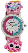 Ravel Children's Girls Time Teacher 3D Owl Pink Silicone Strap Watch R1513.74