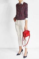 Vanessa Seward Tulip Print Silk Blouse